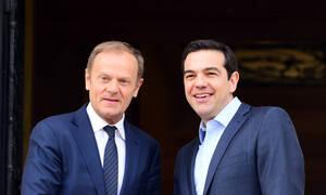 PM Tsipras has phone contact with EU Council President Tusk
