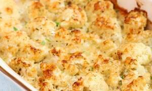 Η συνταγή της ημέρας: Κουνουπίδι με τυρί στο φούρνο