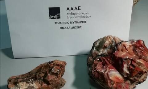 Μυτιλήνη: Τουρίστες προσπάθησαν να φύγουν για Βιέννη με απολιθώματα στις αποσκευές τους (pics)