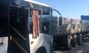 Семнадцать человек пострадали в ДТП с автобусом на Кубани