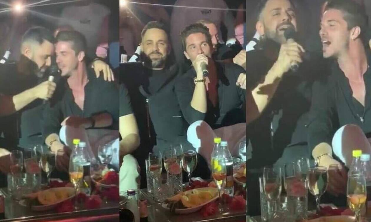 Ο Νίκος Οικονομόπουλος διασκέδασε με Γιώργο Γιαννιά στο Frangelico