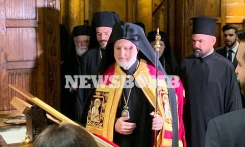 Δοξολογία του νέου Αρχιεπισκόπου Αμερικής Ελπιδοφόρου στο παρεκκλήσι Αποστόλου Παύλου (pics)