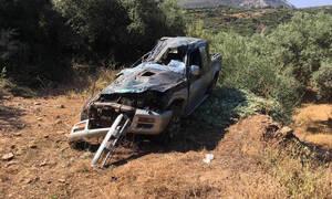 Θρίλερ στη Λακωνία: Αγροτικό έπεσε σε χαράδρα - Δυο τραυματίες