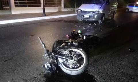 Τροχαίο - σοκ με δύο νεκρούς στα Χανιά: Την παρέσυρε με τη μηχανή και τον χτύπησε φορτηγό