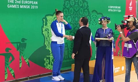 Ασημένιο μετάλλιο για την Άννα Κορακάκη στο Ευρωπαϊκό του Μινσκ