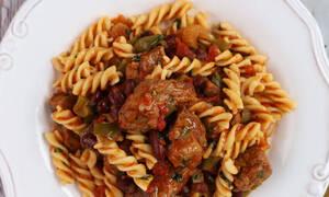 Η συνταγή της ημέρας: Φουσίλι με μοσχάρι