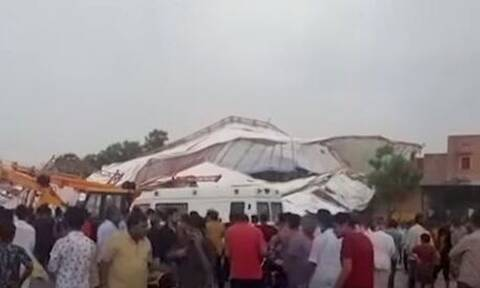 Τραγωδία: Τουλάχιστον 14 νεκροί από κατάρρευση τέντας (vid)
