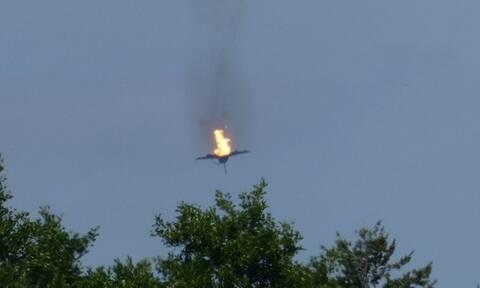 Βίντεο - ντοκουμέντο: Η στιγμή που το Εurofighter πέφτει στο έδαφος