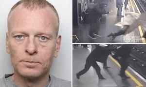 Έριξε άνδρα στις γραμμές του Μετρό – Συγκλονιστικές εικόνες (vid)