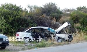 Χαλκιδική: Ένας νεκρός μετά από μετωπική σύγκρουση δύο Ι.Χ. στη Σιθωνία