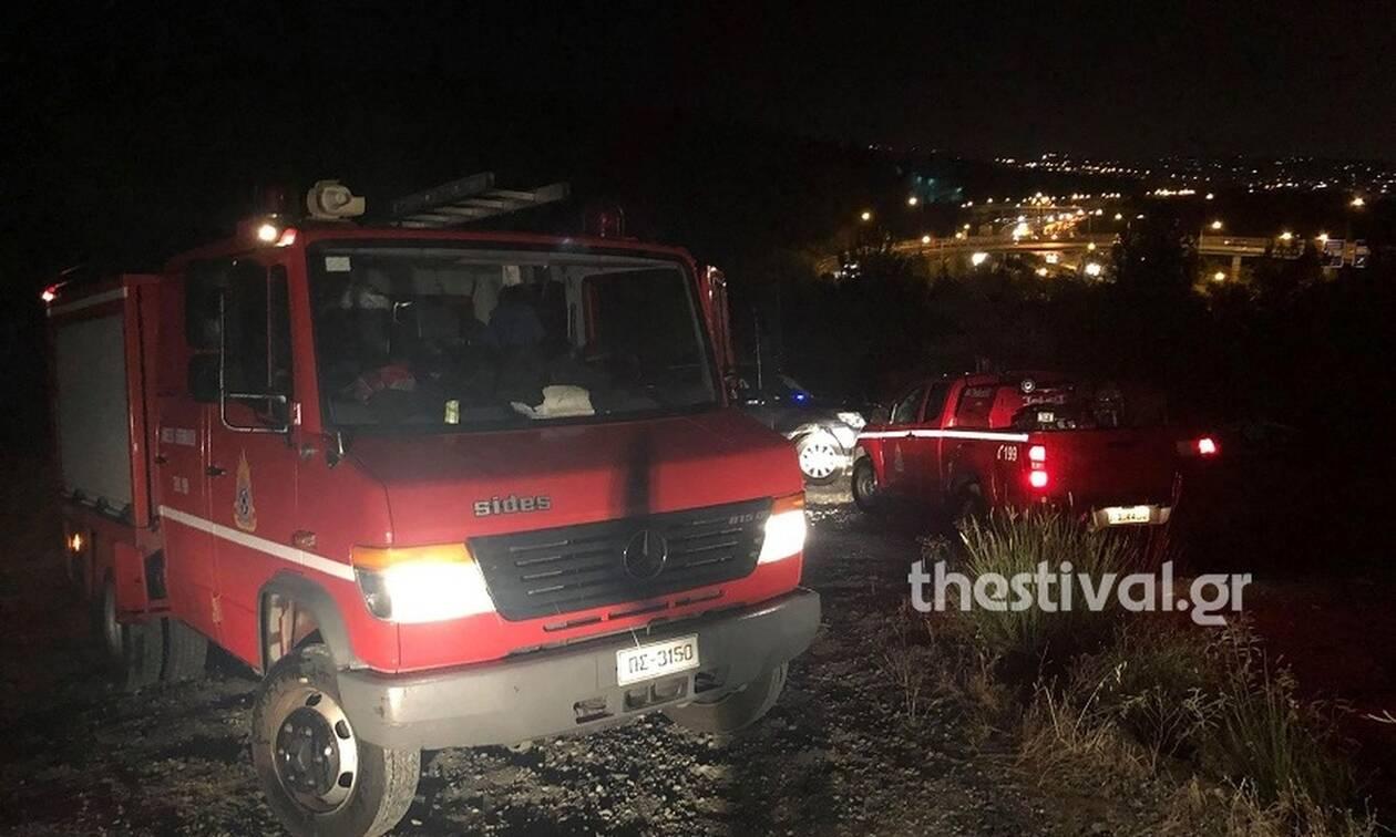 Θεσσαλονίκη: Φωτιά από πτώση κεραυνού στο δάσος του Σέιχ Σου