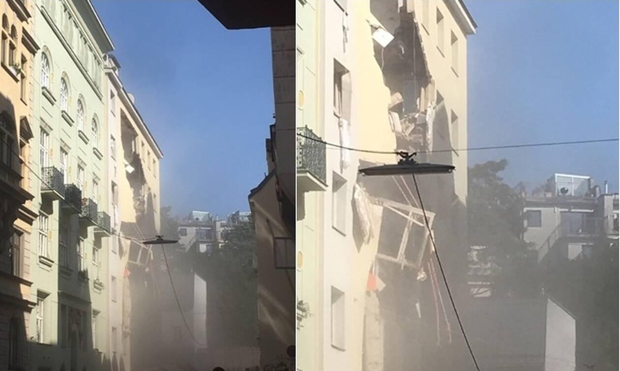 Ισχυρή έκρηξη στη Βιέννη: Κατέρρευσαν όροφοι από δύο κτήρια