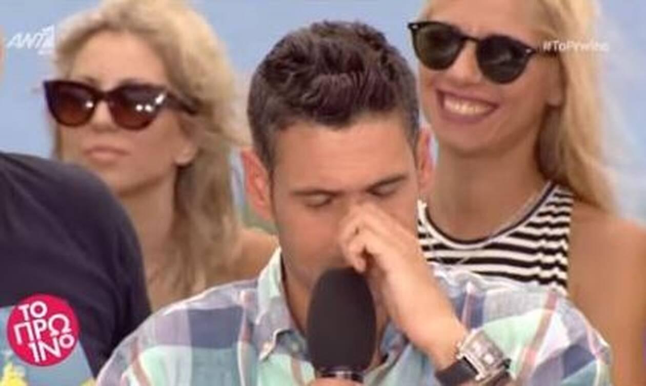 Δημήτρης Ουγγαρέζος: «Λύγισε» στον αέρα της εκπομπής ο παρουσιαστής - Τι συνέβη (pics)
