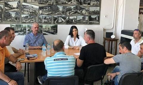 Εκλογές 2019: Η Μαρία Λαθούρη δίπλα στους εργαζομένους του Τομέα Καθαριότητας (pics)