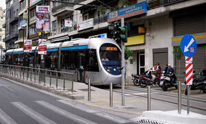 No tram service in Athens