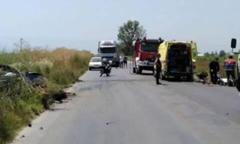 Τραγωδία στην Ημαθία: Θανατηφόρα καραμπόλα – Ένας νεκρός