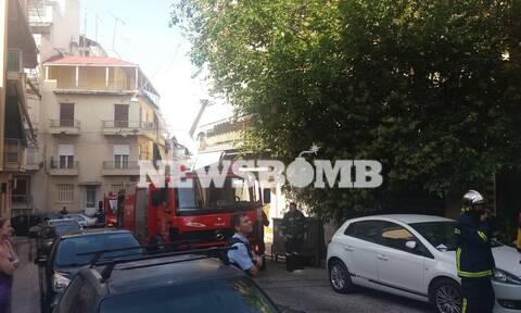 Συναγερμός στο κέντρο της Αθήνας: Φωτιά σε σπίτι στην Κυψέλη (pics)