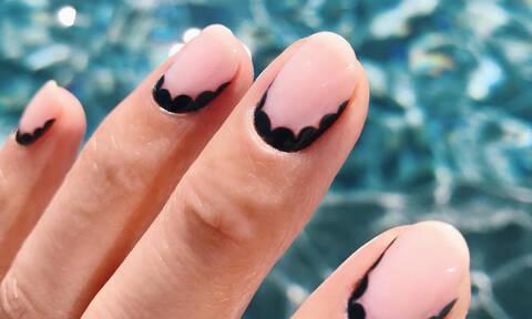 Μαύρο nail art το καλοκαίρι; Γιατί όχι;!