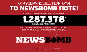 Εκλογές 2019: Πρώτο το Newsbomb.gr με 1.287.378 μοναδικούς επισκέπτες και σε αυτές τις εκλογές
