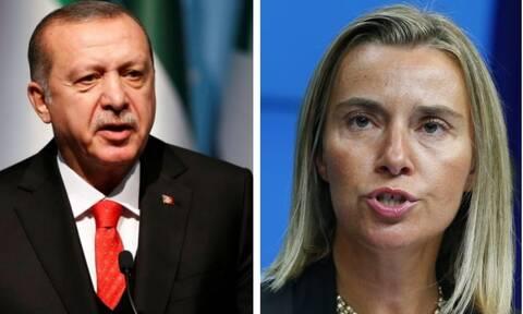 Ερντογάν: «Κανείς δεν μπορεί να μας εμποδίσει» - Μογκερίνι: «Σταματήστε τώρα, θα υπάρξουν συνέπειες»