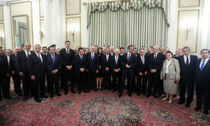 New government sworn in on Tuesday