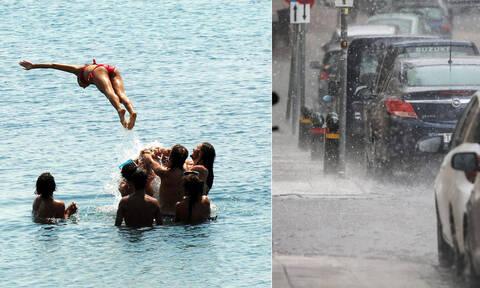 Θα μας τρελάνει ο καιρός: Με καύσωνα και χαλάζι η Τετάρτη - Πού θα σημειωθούν τα φαινόμενα (pics)