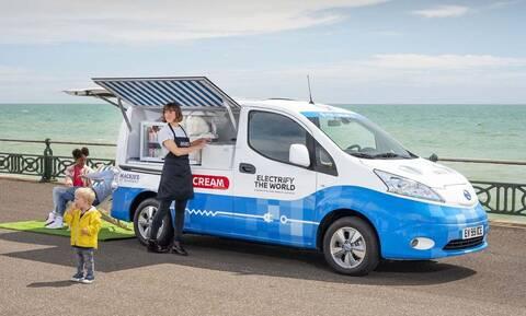 Η Nissan έφτιαξε ένα πρωτότυπο, ηλεκτρικό «παγωτατζίδικο» μηδενικών ρύπων