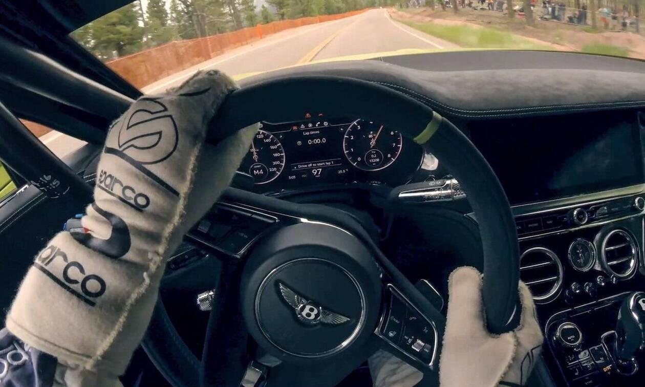 Δείτε την ανάβαση του Pikes Peak από τη θέση του Rhys Millen, του οδηγού της Bentley Continental GT