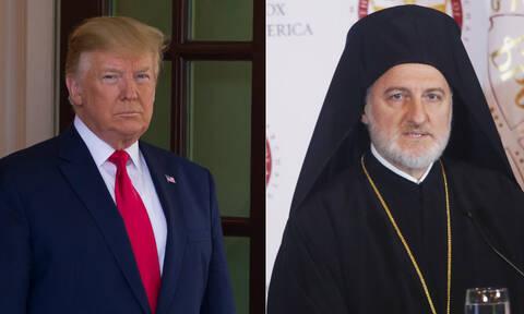 Συγχαρητήρια από τον Ντόναλντ Τραμπ στον Αρχιεπίσκοπο Ελπιδοφόρο