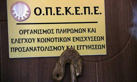 ΟΠΕΚΕΠΕ: Πλήρωσε 14,5 εκατ. ευρώ σε 7.325 δικαιούχους