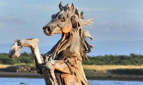 Όταν τα πεταμένα ξύλα μεταμορφώνονται σε... αγάλματα - Δείτε τις εντυπωσιακές φωτογραφίες
