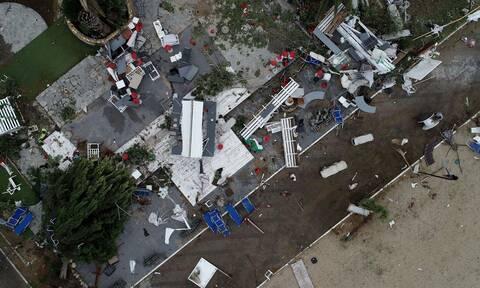 Φονική κακοκαιρία στη Χαλκιδική: Άνεμοι 400 χλμ/ώρα έφεραν την καταστροφή (vid)