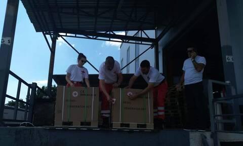 Ελληνικός Ερυθρός Σταυρός: Στο πλευρό των πληγέντων της θεομηνίας στη Χαλκιδική (pics)