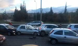 Μεγάλη καραμπόλα οχημάτων στη Εθνική Οδό Θεσσαλονίκης - Ν. Μουδανιών