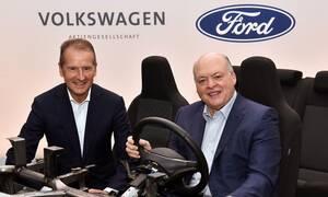 Οι όμιλοι Ford και Volkswagen θα συνεργαστούν στην ηλεκτροκίνηση και την αυτόνομη οδήγηση