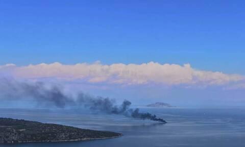 Φωτιά σε ιστιοφόρο σκάφος στην Επίδαυρο