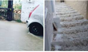 Κακοκαιρία: «Πνίγηκαν» Σύρος και Τρίκαλα – Ποτάμια οι δρόμοι (vids)