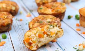 Υπέροχη συνταγή: Mini αλμυρά muffins με λαχανικά