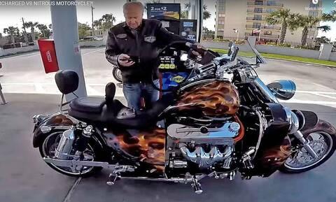 Δείτε μία από τις πιο «τρελές» μοτοσικλέτες στον κόσμο