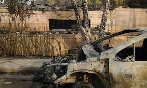 Φωτιά στο Μάτι: Το viral video με τον οδηγό που βρίσκεται μέσα στις φλόγες