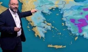 Καιρός: Καρέ - καρέ η επέλαση της κακοκαιρίας! Οι χάρτες του Σάκη Αρναούτογλου (photos)