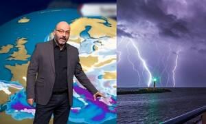 Καιρός: Προσοχή τις επόμενες ώρες! Ερχεται σύμπλεγμα ισχυρών καταιγίδων. Πού θα χτυπήσουν (video)