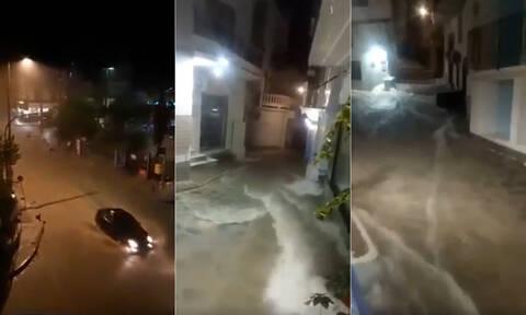 Κακοκαιρία: Πλημμύρες αφήνει πίσω του ο «Αντίνοος» - Προβλήματα σε αρκετές περιοχές (pics+vids)