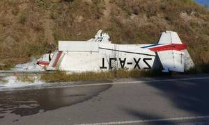 Three people out of danger after single-engine airplane lands upside down
