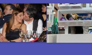 Έλενα Παπαρίζου- Ανδρέας Καψάλης: Το love story και τα καυτά φιλιά πίσω από τα ράφια (photos)