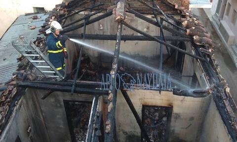 В Нафплионе в результате пожара погибла женщина