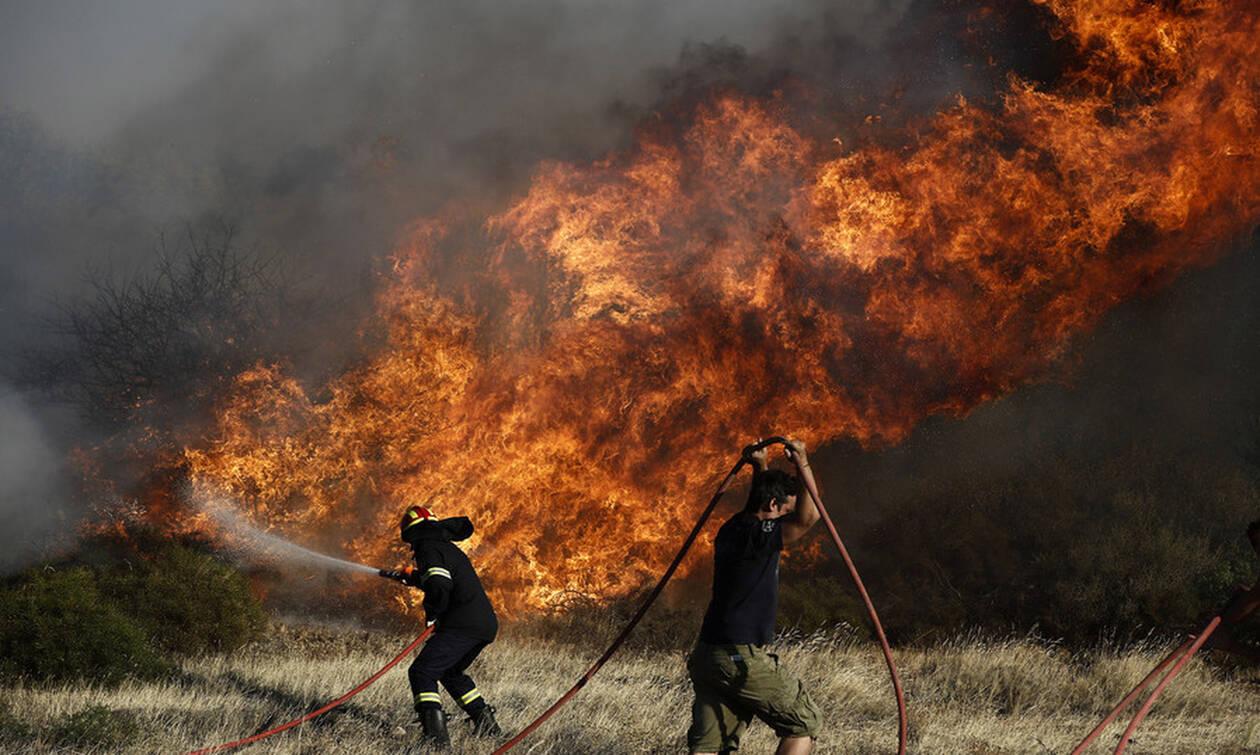 Fire breaks out in Megara