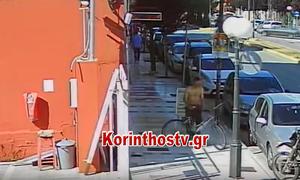 Κόρινθος: Θρασύτατος ληστής κλέβει ποδήλατο μπροστά στα μάτια των περαστικών (vid)