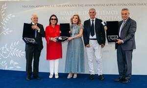 Σε τρεις προσωπικότητες τα Βραβεία Πολιτισμού Μαριάννα Β. Βαρδινογιάννη 2019 (pics)