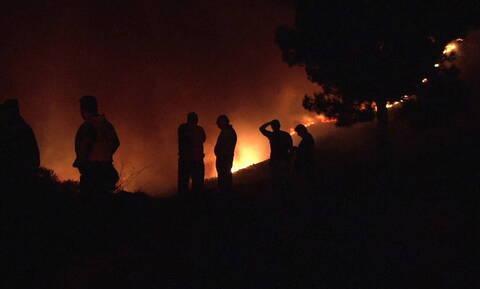Φωτιά ΤΩΡΑ στο Ηράκλειο Κρήτης - Υπό μερικό έλεγχο η πυρκαγιά στο Τεφέλι (χάρτης)